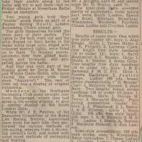 Report of Swimming Gala 1951