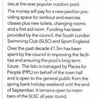 Upgrade for Tooting Bec Lido