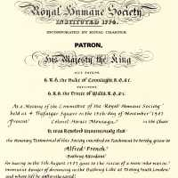 Replica Royal Humane Society Certificate